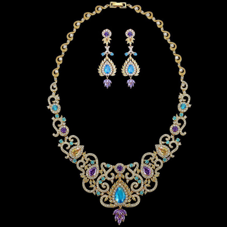 Bridal Necklace Luxury Jewelry Set Wedding Jewelry Sets for Women Party Gifts