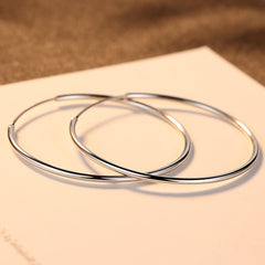 Classic Simple 925 Silver Hoop Earrings Hoops Jewelry