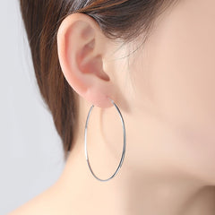 Gift for women gift for girl birthday present men girlfirend wife daughterClassic Simple 925 Silver Hoop Earrings Hoops Earings Jewelry for Women