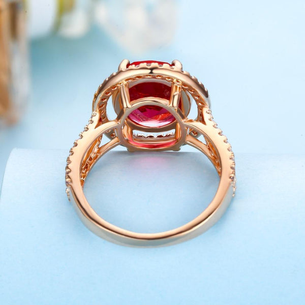 Gift for women gift for girl birthday present men girlfirend wife daughterFashion Gold Plated Red Gemstone Ring Jewelry for Women