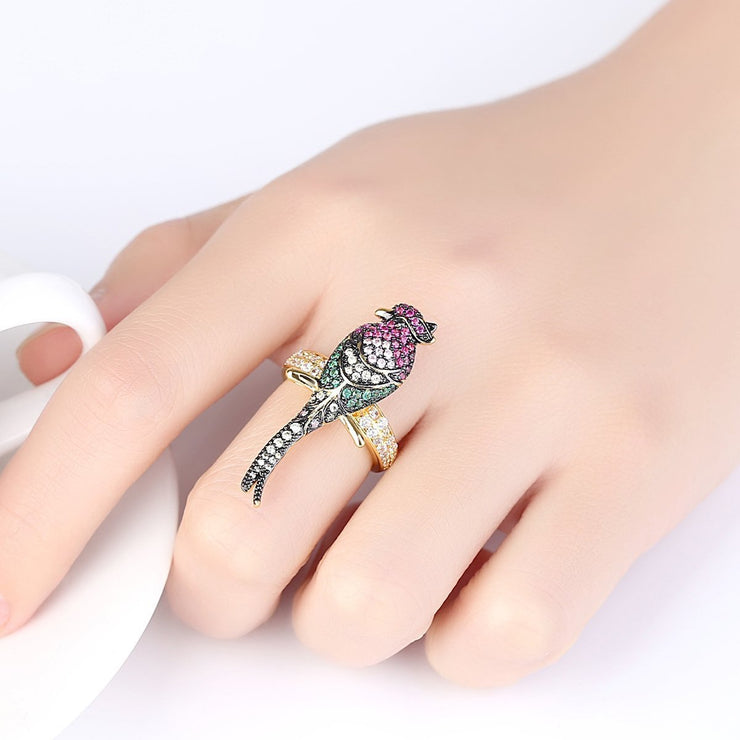 Gift for women gift for girl birthday present men girlfirend wife daughterFashion Gold Plated Ring Jewelry for Women