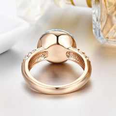 Gift for women gift for girl birthday present men girlfirend wife daughterFashion Gold Plated Swarovski Crystal Ring Jewelry for Women