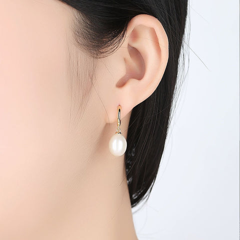 wholesale and dropshipping Freshwater Pearl 925 Sterling Silver Drop Dangle 2019 Earrings Jewelry Gifts for Women