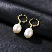 Gift for women gift for girl birthday present men girlfirend wife daughterFreshwater Pearl 925 Sterling Silver Drop Dangle 2019 Earrings Jewelry Gifts for Women