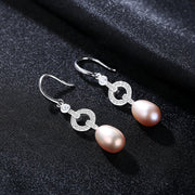 Gift for women gift for girl birthday present men girlfirend wife daughterFreshwater Pearl 925 Sterling Silver Earrings for Women