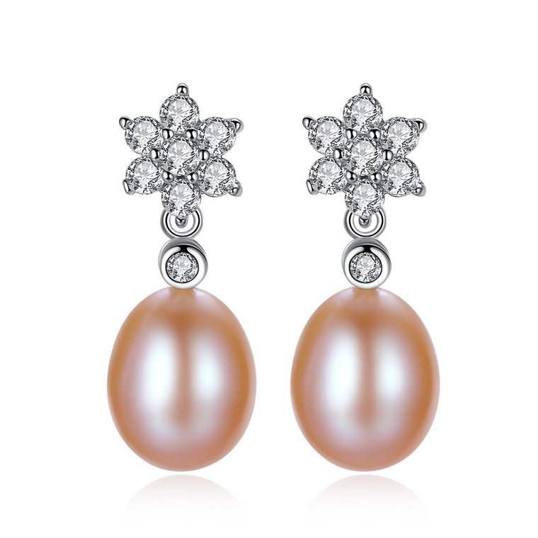 Natural Pearl 925 Sterling Silver Earrings