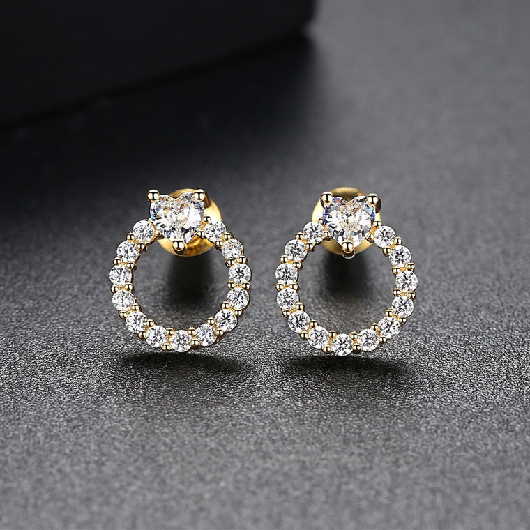 Gold Plated Earings Fashion Jewelry Stud Earrings for Women