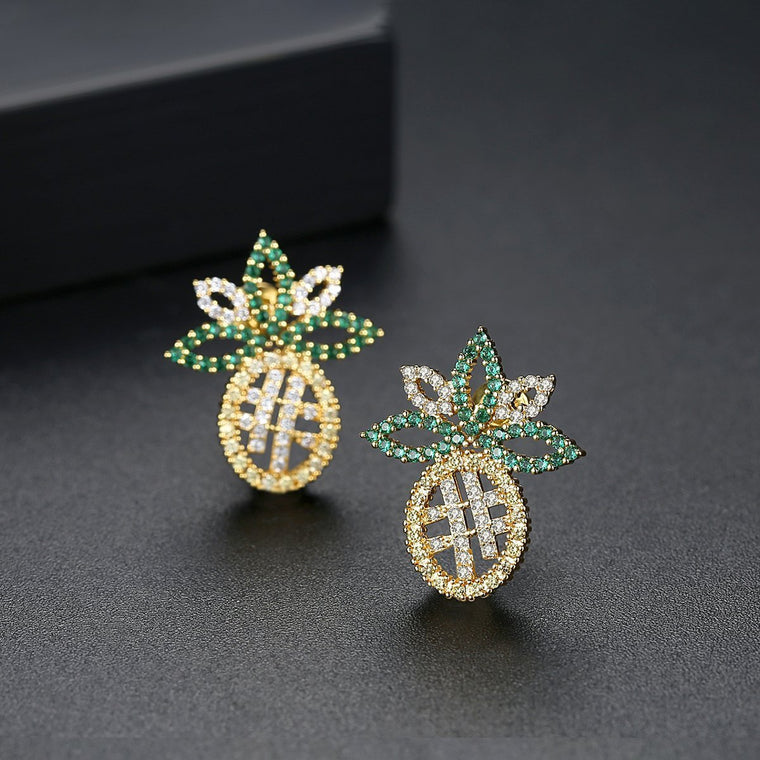 Gold Finish Fashion Jewelry Stud Earrings