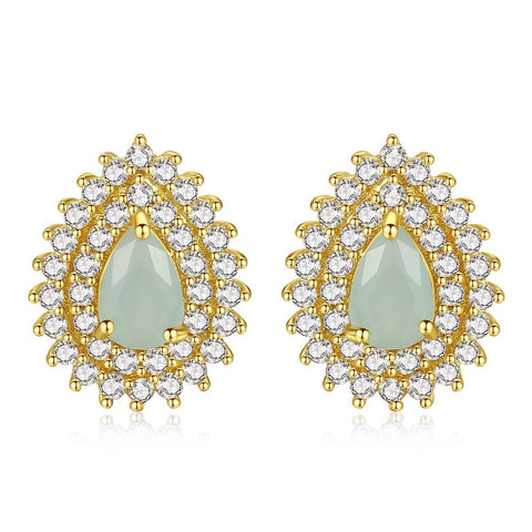 wholesale and dropshipping Korean Earings fashion Opal Jewelry Gold Stud Earrings for Women Accessories Studs