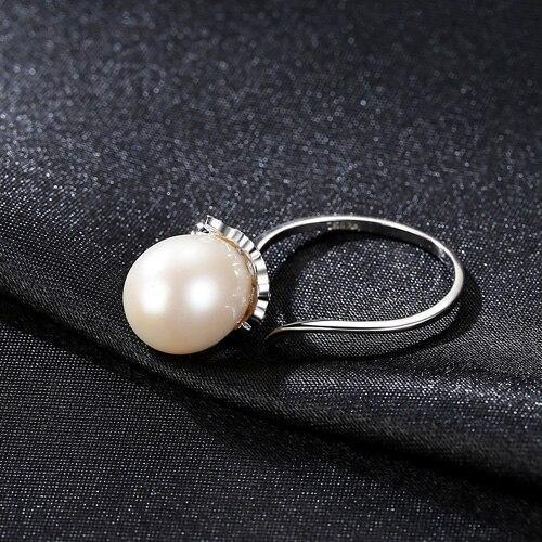 Gift for women gift for girl birthday present men girlfirend wife daughterNatural Freshwater Pearl 925 Sterling Silver Ring Jewelry for Women