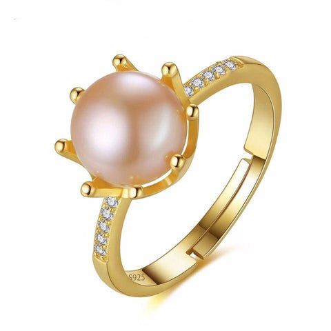 Natural Pearl 925 Sterling Silver Ring Jewelry