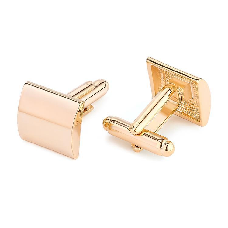Platinum/ Gold Finish Shirt Cuff Links Wedding Cufflinks for Mens