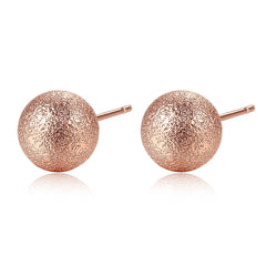Gift for women gift for girl birthday present men girlfirend wife daughterRose Gold Plated Earings Fashion Jewelry Stud Earrings for Women
