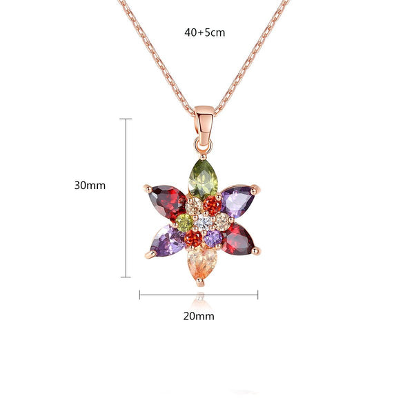 Gift for women gift for girl birthday present men girlfirend wife daughterRose Gold Plated Jewelry Cubic Zirconia Necklace Women