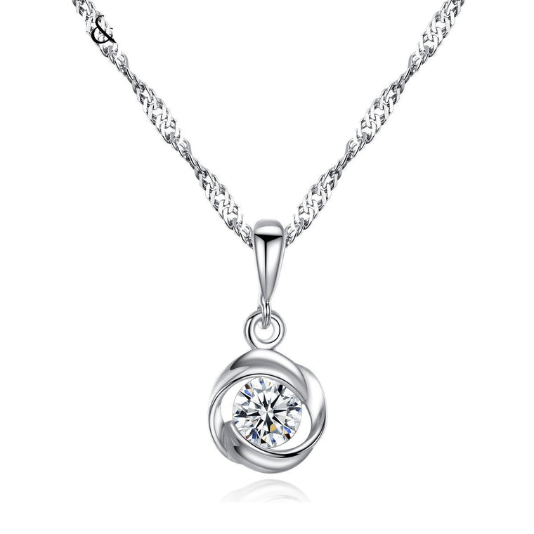 S925 Silver Chain Necklace Pendant