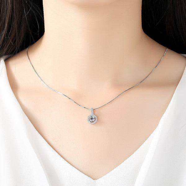 Gift for women gift for girl birthday present men girlfirend wife daughterS925 Silver Chain Necklace Pendants for Women