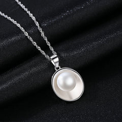Gift for women gift for girl birthday present men girlfirend wife daughterS925 Silver Jewelry Chains Freshwater Pearl Necklace Women