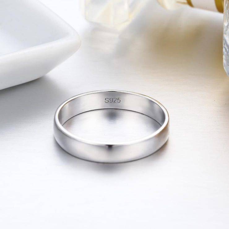 Gift for women gift for girl birthday present men girlfirend wife daughterSimple 925 Sterling Silver Size 5 Couple Ring to 11 Big Rings Men for Women