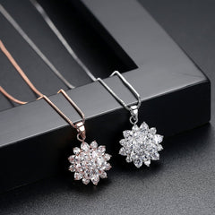 Gift for women gift for girl birthday present men girlfirend wife daughterSunflower Necklace Fashion Jewelry Pendants Collares De Moda 2019