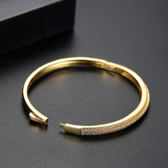 Gift for women gift for girl birthday present men girlfirend wife daughterWhite/ 18K Gold Plated Fashion Jewelry Bracelet Bangles for Women