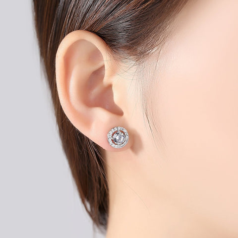 wholesale and dropshipping White Gold Plated Cute Stud Hypoallergenic Earrings for Women Accessories Studs