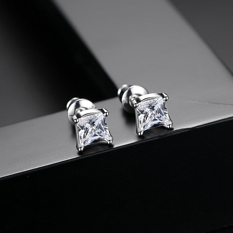 White Gold Plated Earings Fashion Jewelry Stud Earrings for Women