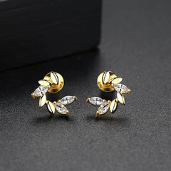 Gift for women gift for girl birthday present men girlfirend wife daughterWhite Gold Plated Earings Fashion Jewelry Stud Earrings for Women