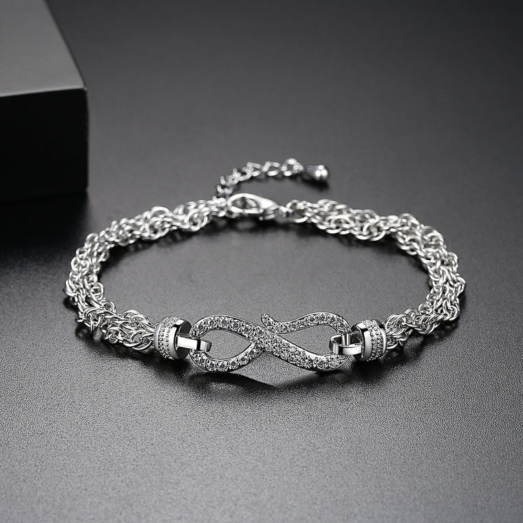 Infinito Bracelet - 18ct White Gold Finish