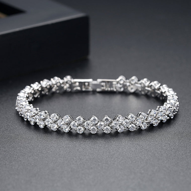 18ct White Gold Finish Fashion Jewelry Bracelet