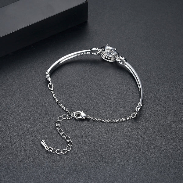 Gift for women gift for girl birthday present men girlfirend wife daughterWhite Gold Plated Fashion Jewelry Bracelet for Women