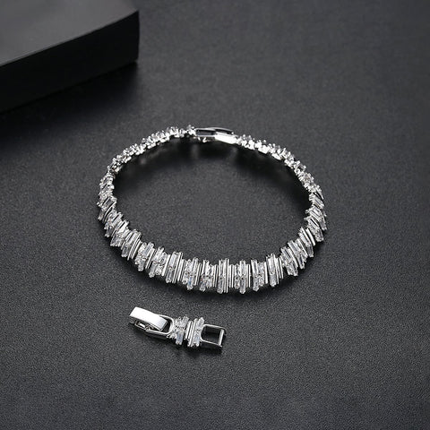'Brillare' Bracelet - 18K White Gold Finish