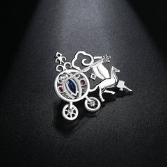 Gift for women gift for girl birthday present men girlfirend wife daughterWhite Gold Plated Jewelry Costume Brooches for Women