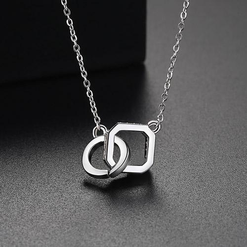18ct White Gold Finish Jewelry Cubic Zirconia Necklace