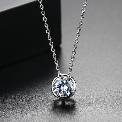 Gift for women gift for girl birthday present men girlfirend wife daughterWhite Gold Plated Jewelry Cubic Zirconia Necklace Women