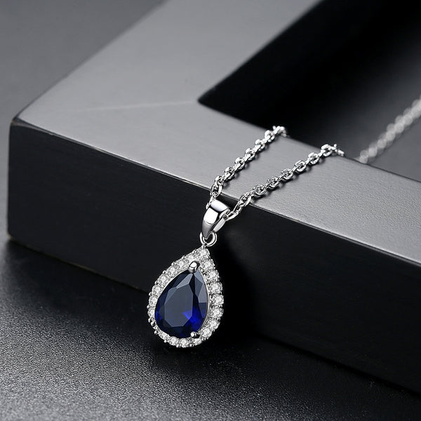 Gift for women gift for girl birthday present men girlfirend wife daughterWhite Plated Jewelry Cubic Zirconia Necklace Women