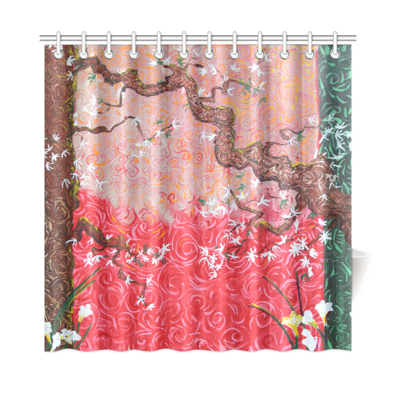 A Japanese Spring Shower Curtain