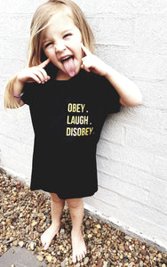 Disobey Limited addition Blk/Gold Tee Girls