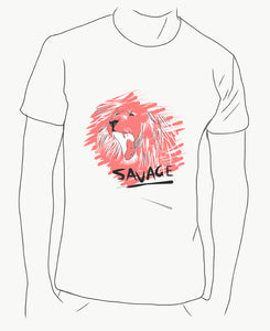 Savage Lion sketch (best on white shirt)