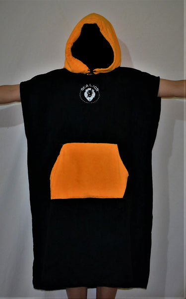 orange micro fiber poncho towel