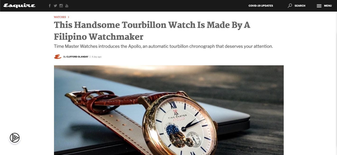 This Handsome Tourbillon Watch Is Made By A Filipino Watchmaker - Esquire
