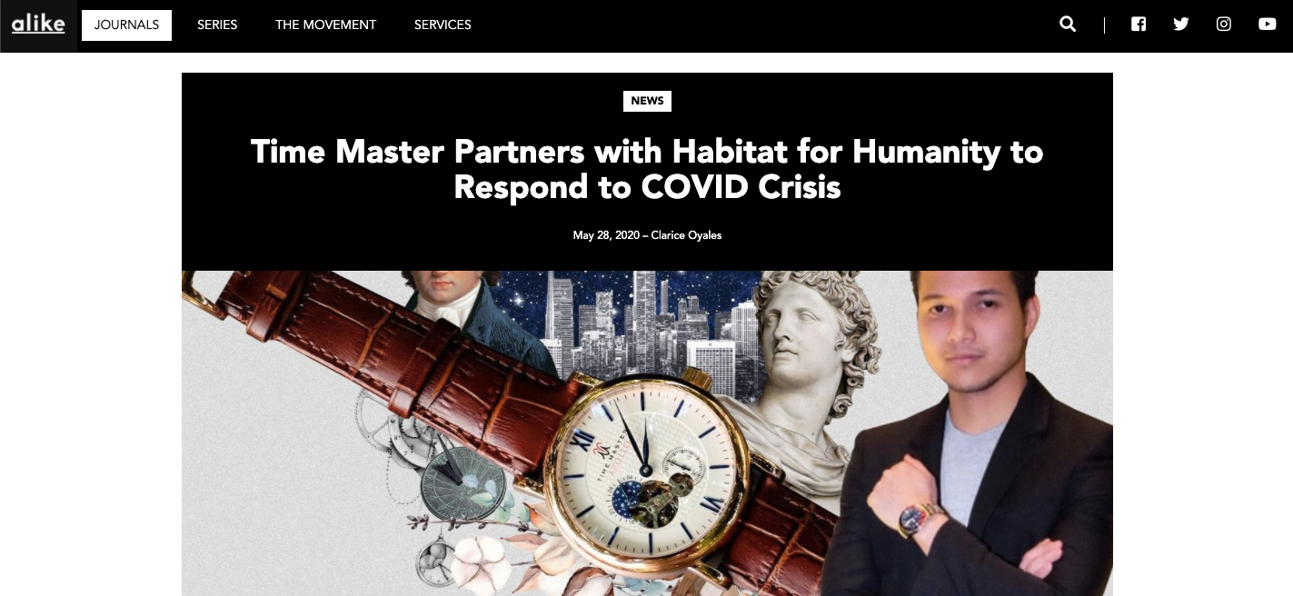 Time Master Partners with Habitat for Humanity to Respond to COVID Crisis - Alike