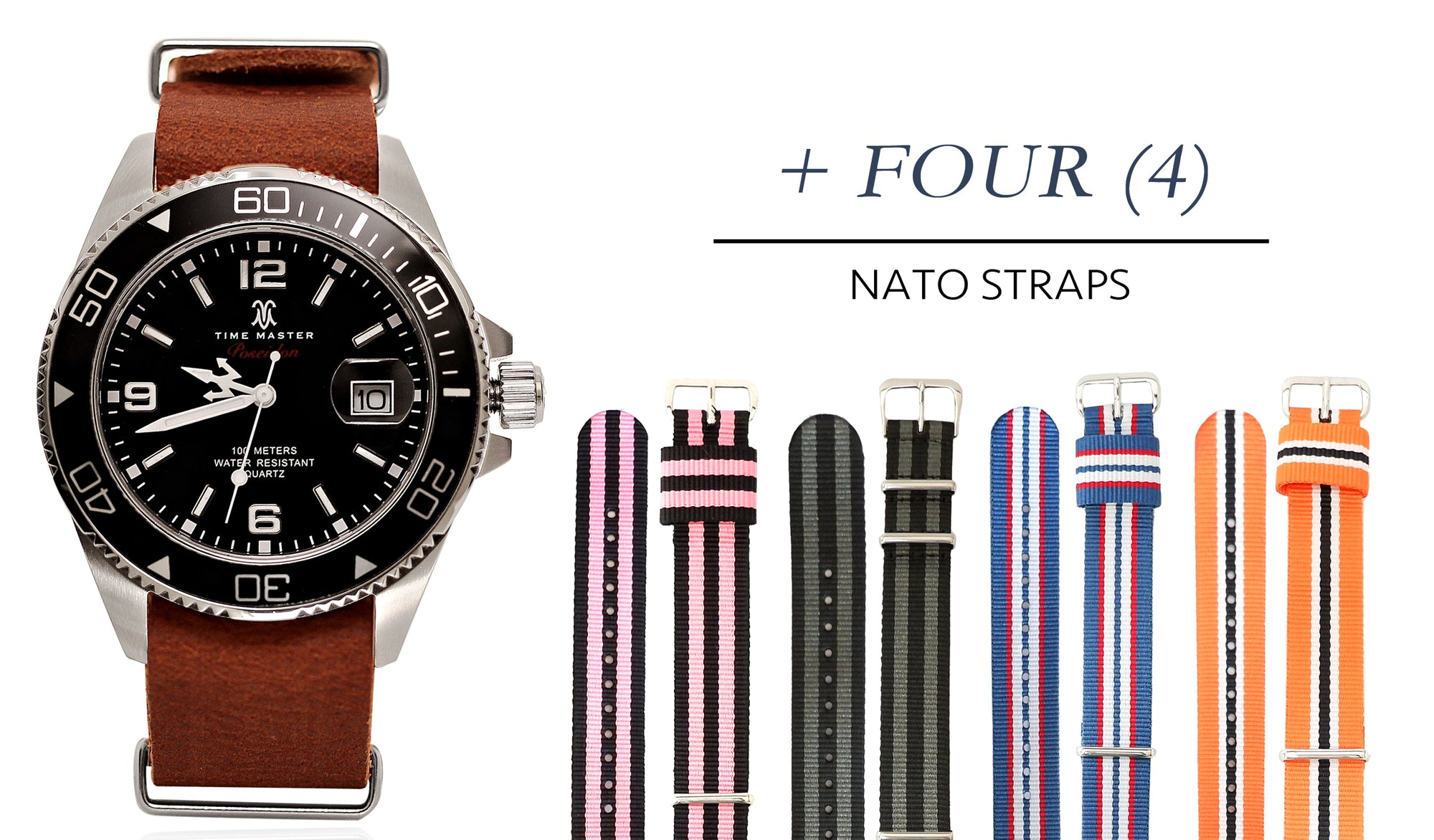 Poseidon Leather + ALL Four NATO Straps