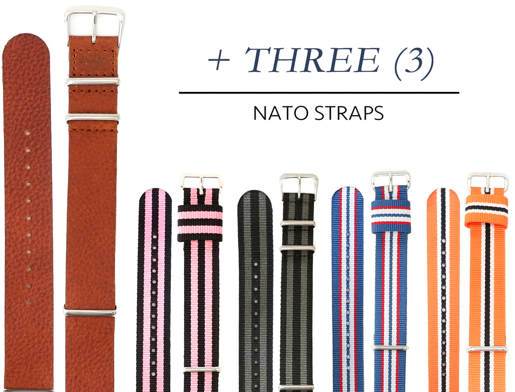 Leather + ANY Three NATO Straps