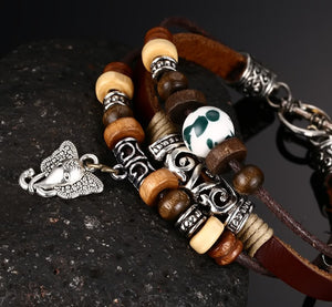 Luxury Leather Elephant Bracelet