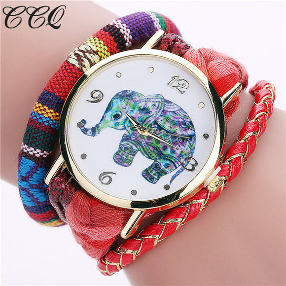 Womens Rope Strap Elephant watch