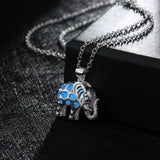 Glow In The Dark Elephant Pendant Necklace.