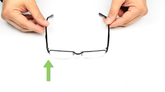 If your glasses are slanted or off centre