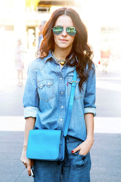 Mirrored Sunglasses with denims