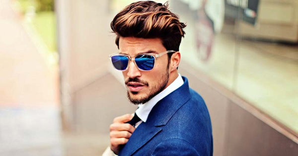 Sunglasses with suit