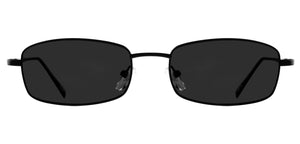 Midnight Black Rectangle Non Polarised Sunglasses for Women Spinster Front Angle